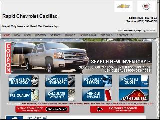 Rapid Chevrolet Cadillac Po Box 1765 Rapid City